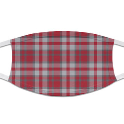 Red & Gray Plaid Cloth Face Mask (T-Shirt Fabric) (Personalized)