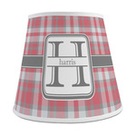 Red & Gray Plaid Empire Lamp Shade (Personalized)