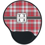 Red & Gray Plaid Mouse Pad with Wrist Support
