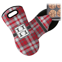 Red & Gray Plaid Neoprene Oven Mitt (Personalized)