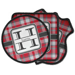Red & Gray Plaid Iron on Patches (Personalized)