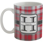 Red & Gray Plaid Coffee Mug (Personalized)