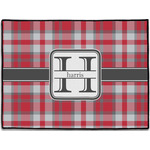 Red & Gray Plaid Door Mat (Personalized)