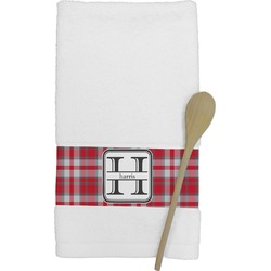 Red & Gray Plaid Kitchen Towel (Personalized)