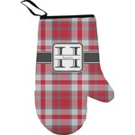 Red & Gray Plaid Oven Mitt (Personalized)