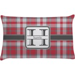 Red & Gray Plaid Pillow Case (Personalized)
