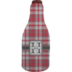 Red & Gray Plaid Wine Sleeve (Personalized)