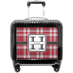Red & Gray Plaid Pilot / Flight Suitcase (Personalized)