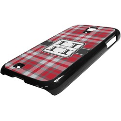 Red & Gray Plaid Plastic Samsung Galaxy 4 Phone Case (Personalized)