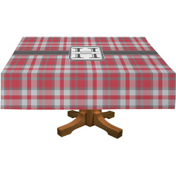 "Red & Gray Plaid Tablecloth - 58""x102"" (Personalized)"