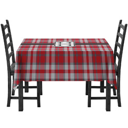 Red & Gray Plaid Tablecloth (Personalized)