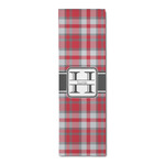 Red & Gray Plaid Runner Rug - 3.66'x8' (Personalized)