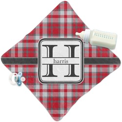Red & Gray Plaid Security Blanket (Personalized)