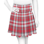 Red & Gray Plaid Skater Skirt (Personalized)