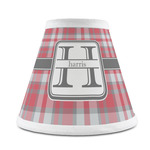 Red & Gray Plaid Chandelier Lamp Shade (Personalized)