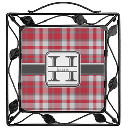 Red & Gray Plaid Trivet (Personalized)