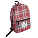 Red & Gray Plaid Student Backpack (Personalized)