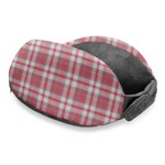 Red & Gray Plaid Travel Neck Pillow