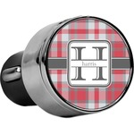 Red & Gray Plaid USB Car Charger (Personalized)
