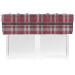 Red & Gray Plaid Valance (Personalized)