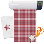 Red & Gray Plaid Heat Transfer Vinyl Sheet (12