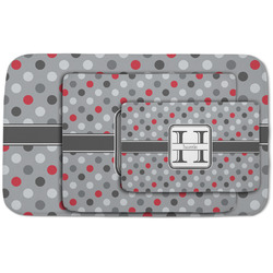 Red & Gray Polka Dots Area Rug (Personalized)