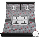 Red & Gray Polka Dots Duvet Covers (Personalized)