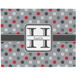 Red & Gray Polka Dots Placemat (Fabric) (Personalized)