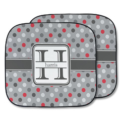 Red & Gray Polka Dots Car Sun Shade - Two Piece (Personalized)