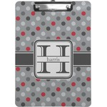 Red & Gray Polka Dots Clipboard (Personalized)