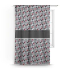 Red & Gray Polka Dots Curtain (Personalized)