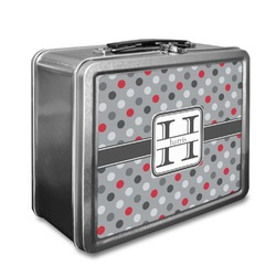 Red & Gray Polka Dots Lunch Box (Personalized)