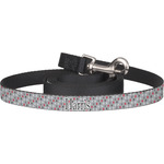 Red & Gray Polka Dots Dog Leash (Personalized)