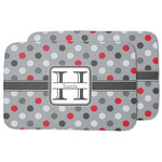 Red & Gray Polka Dots Dish Drying Mat (Personalized)