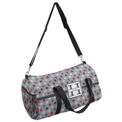 Red & Gray Polka Dots Duffel Bag - Multiple Sizes (Personalized)