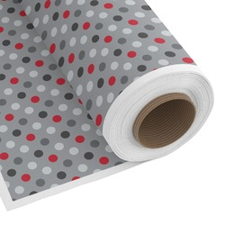 Red & Gray Polka Dots Custom Fabric by the Yard (Personalized)