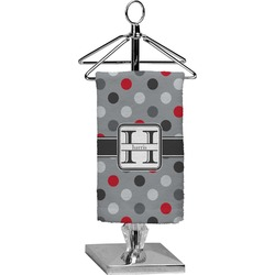 Red & Gray Polka Dots Finger Tip Towel - Full Print (Personalized)