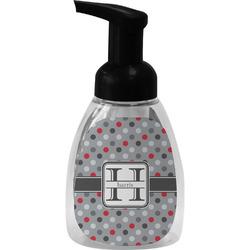 Red & Gray Polka Dots Foam Soap Dispenser (Personalized)