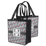 Red & Gray Polka Dots Grocery Bag (Personalized)
