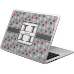 Red & Gray Polka Dots Laptop Skin - Custom Sized (Personalized)