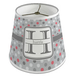 Red & Gray Polka Dots Empire Lamp Shade (Personalized)