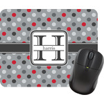 Red & Gray Polka Dots Mouse Pads (Personalized)