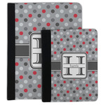 Red & Gray Polka Dots Padfolio Clipboard (Personalized)