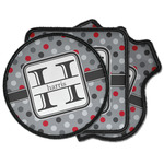 Red & Gray Polka Dots Iron on Patches (Personalized)