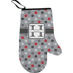Red & Gray Polka Dots Oven Mitt (Personalized)