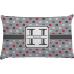 Red & Gray Polka Dots Pillow Case (Personalized)