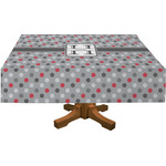 Red & Gray Polka Dots Tablecloth (Personalized)