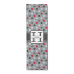 Red & Gray Polka Dots Runner Rug - 3.66'x8' (Personalized)