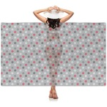 Red & Gray Polka Dots Sheer Sarong (Personalized)