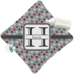 Red & Gray Polka Dots Security Blanket (Personalized)